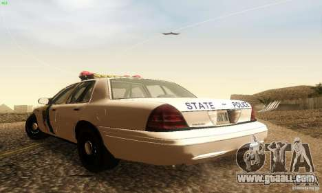 Ford Crown Victoria New Jersey Police for GTA San Andreas left view