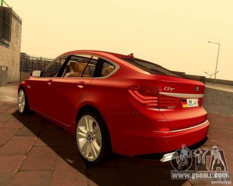 BMW 550i GranTurismo 2009 V1.0 for GTA San Andreas side view