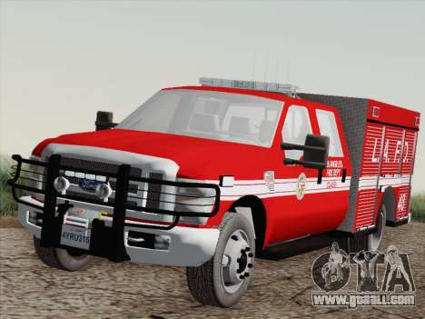 Ford F-350 Super Duty LAFD for GTA San Andreas right view