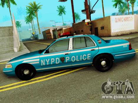 Ford Crown Victoria 2003 NYPD Blue for GTA San Andreas left view
