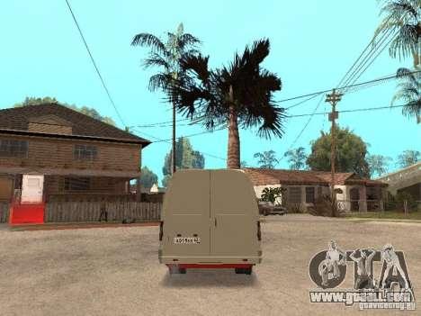Gazelle 2705 for GTA San Andreas inner view