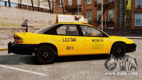 Dodge Intrepid 1993 Taxi for GTA 4 left view