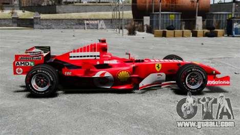 Ferrari F2005 for GTA 4 left view