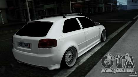 Audi S3 Euro for GTA San Andreas right view