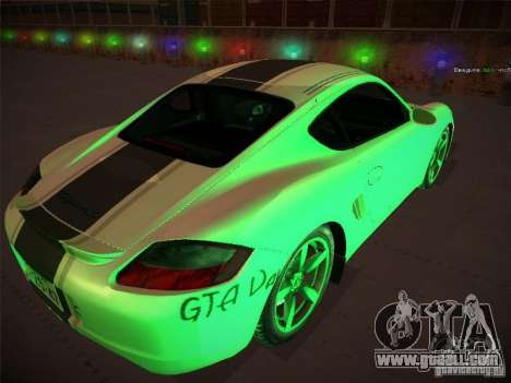 Porsche Cayman S Snow for GTA San Andreas left view