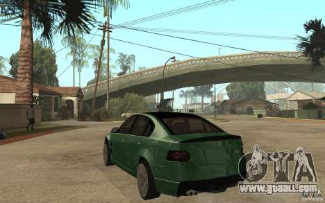 Holden Commodore 2010 for GTA San Andreas back left view