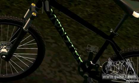 Bike with Monster Energy for GTA San Andreas back view