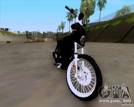 Harley Davidson FXD Super Glide for GTA San Andreas back left view