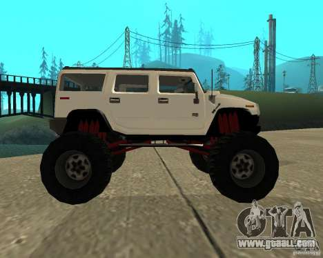 Hummer H2 MONSTER for GTA San Andreas left view