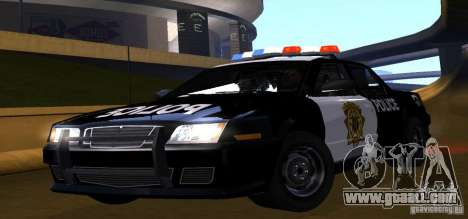 NFS Undercover Police Car for GTA San Andreas back left view