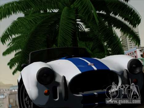 Shelby Cobra 427 for GTA San Andreas inner view