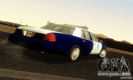 Ford Crown Victoria Masachussttss Police for GTA San Andreas left view