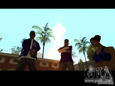 Piru Street Crips for GTA San Andreas ninth screenshot