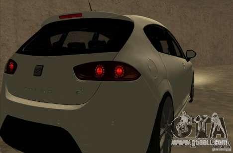 Seat Leon Cupra R for GTA San Andreas back view