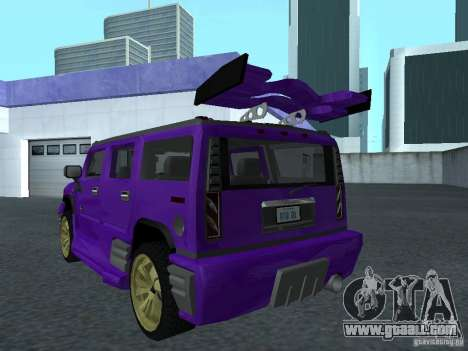 HUMMER H2 Tunable for GTA San Andreas left view