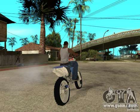 Yamaha yz250f for GTA San Andreas back left view