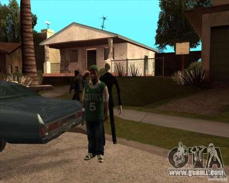 Slender in dark glasses for GTA San Andreas second screenshot