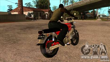 Honda CB 125 for GTA San Andreas right view