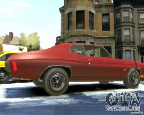 Chevrolet Chevelle SS 454 1970 for GTA 4 right view