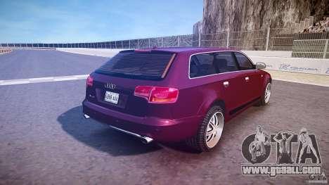 Audi A6 Allroad Quattro 2007 wheel 1 for GTA 4 bottom view
