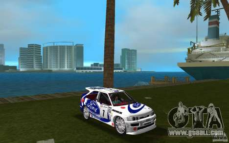 Ford Escort Cosworth RS for GTA Vice City back view