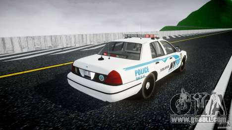 Ford Crown Victoria v2 NYPD [ELS] for GTA 4 side view
