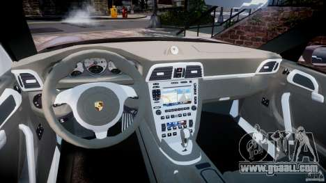 Porsche 911 (997) Turbo v1.0 for GTA 4 inner view