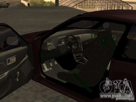 Honda Civic CRX JDM for GTA San Andreas inner view