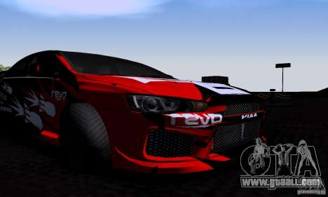 Mitsubishi Lancer Evolution X 2008 for GTA San Andreas inner view