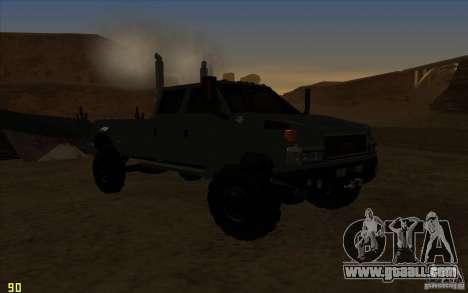 GMC Topkick Ironhide TF3 for GTA San Andreas back view