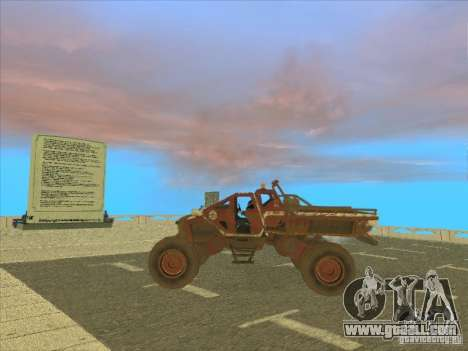Jeep from Red Faction Guerrilla for GTA San Andreas back left view