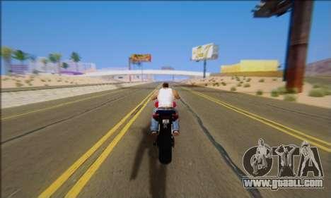 Honda CB600F Hornet 2012 for GTA San Andreas inner view