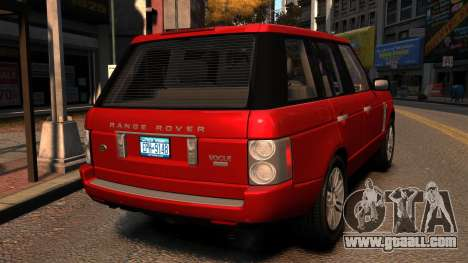 Range Rover TDV8 Vogue for GTA 4 back left view