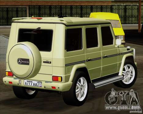 Mercedes-Benz G500 1999 for GTA San Andreas back left view