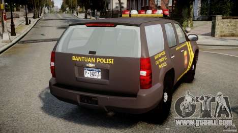 Chevrolet Tahoe Indonesia Police for GTA 4 back left view