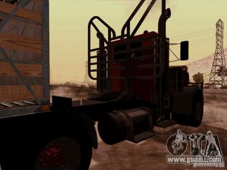 Peterbilt 359 Day Cab for GTA San Andreas back view
