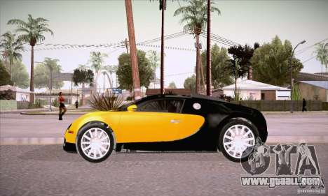 Bugatti Veyron 16.4 EB 2006 for GTA San Andreas left view