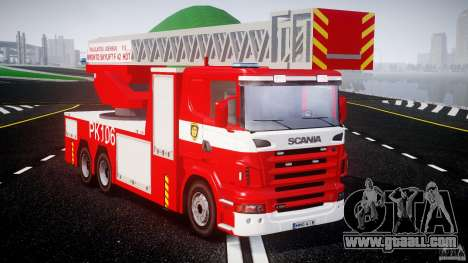 Scania R580 Fire ladder PK106 for GTA 4 right view