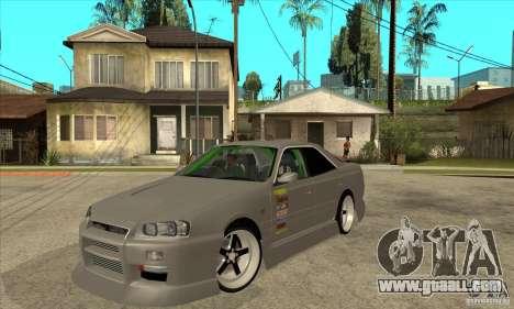 Nissan Skyline Er34 Street Drift for GTA San Andreas