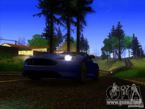 Aston Martin Virage 2011 Final for GTA San Andreas left view