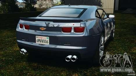 Chevrolet Camaro ZL1 2012 v1.0 Smoke Stripe for GTA 4 back left view