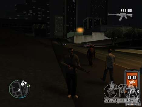 HUD and weapons from GTA IV for GTA San Andreas