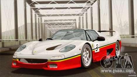 Ferrari F50 v1.0.0 Road Version for GTA San Andreas upper view