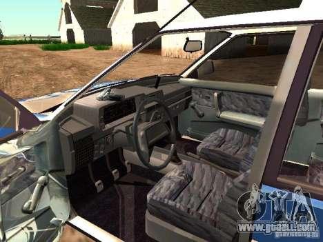 VAZ 2109 Police for GTA San Andreas inner view