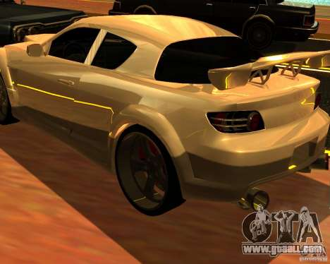 Mazda RX8 for GTA San Andreas left view