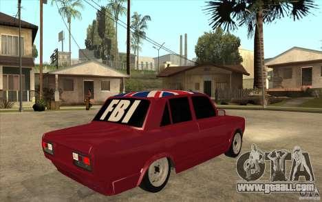 VAZ 2107 Hobo v. 2 for GTA San Andreas right view