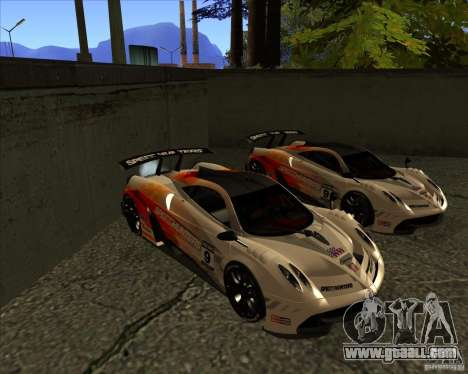 Pagani Huayra SHE for GTA San Andreas back view