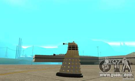 Dalek Doctor Who for GTA San Andreas left view