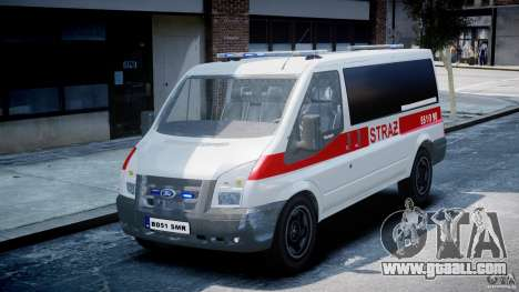 Ford Transit Polish Firetruck [ELS] for GTA 4