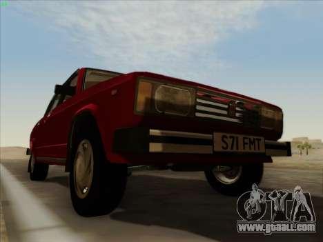 Lada 2105 RIVA (export) 2.0 for GTA San Andreas upper view